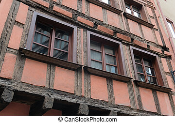 old house in la petit France district on Strasbourg