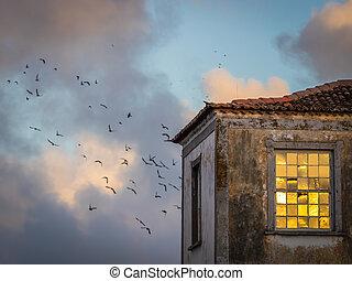 Old house in Ponta Delgada
