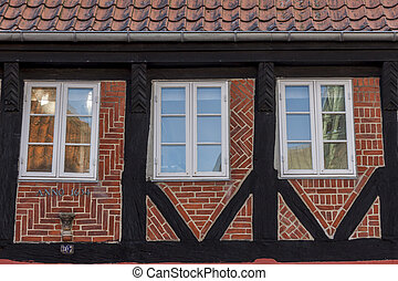 Rosette on medieval house in ribe, denmark  Ribe is the