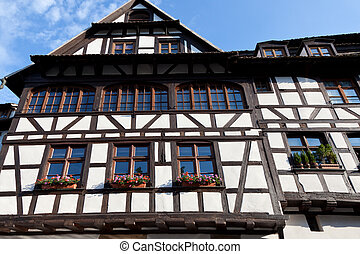 old house in Strasbourg, France, Alsace
