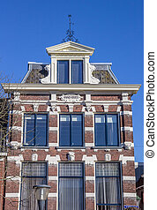 Old house in the historical center of Leeuwarden