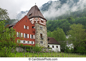 Old house in the Principality of Liechtenstein