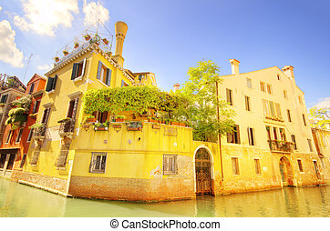 Old house in venice Italy
