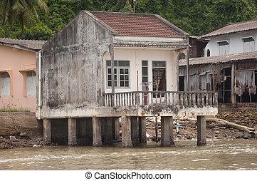 old house near the sea