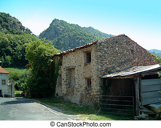 Old house - Old House in pyrenees hilltown, France