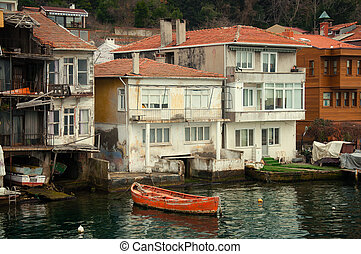 old house on the banks of the Bosphorus