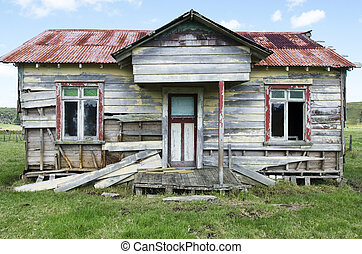 Old House  - Old deserted wooden farm house.
