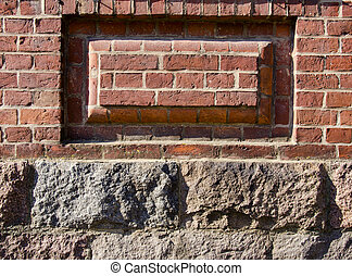 old house wall and foundation background