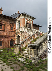 Old house with stairs.