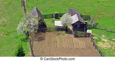 old household in the countryside
