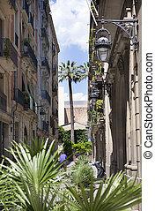 old houses. Barcelona. Spain.