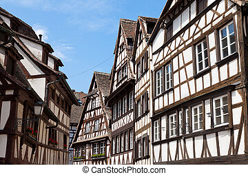 old houses in La Petite France in Strasbourg