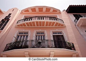 Old houses in Panama city - Panama city Casco viejo old...