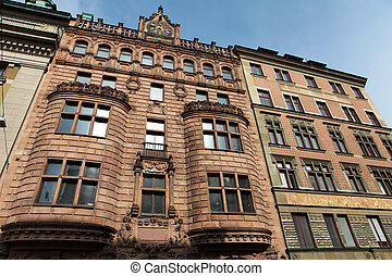 Old houses in the center of Stockholm