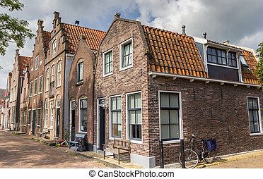 Old houses in the historic center of Edam