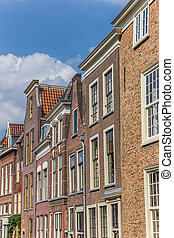 Old houses in the historic center of Leiden