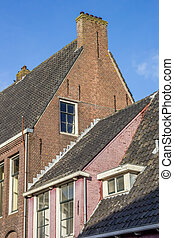 Old houses in the historical center of Franeker