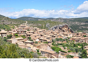 Old houses in the town of Alquezar