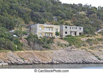 Old houses near sea