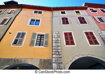 Old houses of Annecy city