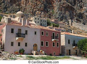 Old houses of byzantine town Monemvasia