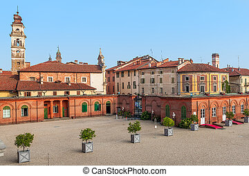 Old houses of Racconigi, Italy.