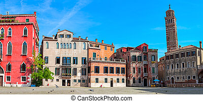 Old houses of Venice, Italy.