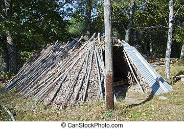 Old hstorical log hut