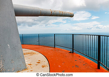 Old huge cannon at Europa point, Gibraltar