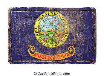Old Idaho State flag - 3d rendering of an Idaho State flag...