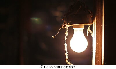 incandescent light bulb - Old incandescent light bulb turns...