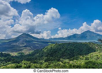 Old Indonesian volcano landscape