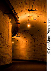 Old industrial tunnel
