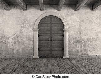 Old interior doorway