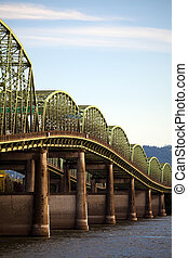 Old interstate bridge in Oregon - Old interstate highway...