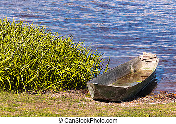 Old Iron Boat in the Lake of Mantova