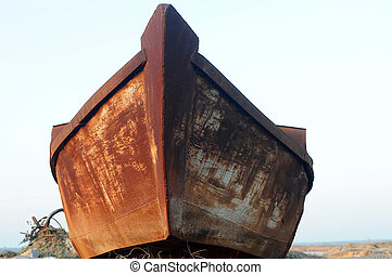 Old iron boat