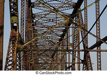 old iron bridge abstract