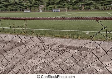 Old Iron Fence on the stadium