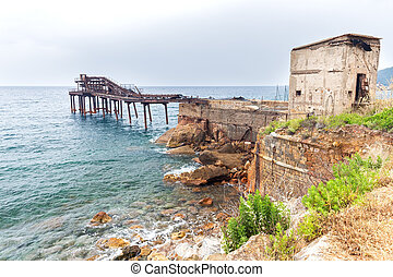 old iron pier