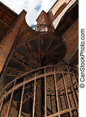 old iron spiral staircase