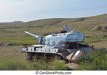 Old Israeli tank
