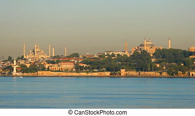 Old Istanbul above Bosphorus