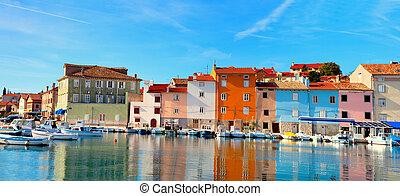 old Istrian town in Novigrad, Croatia.