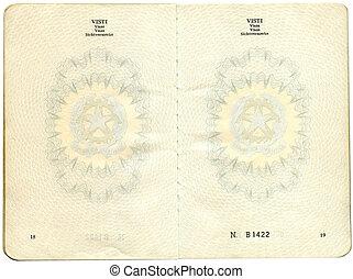 Old Italian passport
