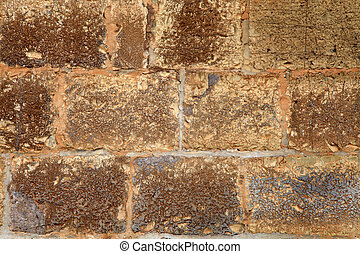 Old italian stone wall texture background