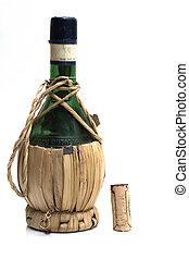 old Italian wine bottle