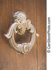 door with metal knocker