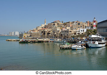 Old Jaffa city port in Tel Aviv Jaffa - Israel - Landscape...