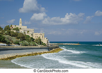 Old Jaffa view from Tel-Aviv. Israel.